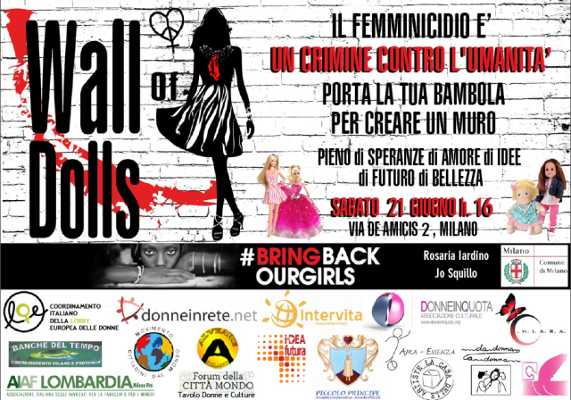 Wall of Dolls: un muro di bambole contro la Violenza sulle Donne